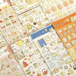 Wholesale diy paper decoration - Wholesale- 48pcs lot New Japanese sumikko gurashi Funny Fresh Friends Gilding style Paper Sticker DIY Note sticker Decoration label  GT262