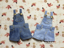 Wholesale Doll Overall - 2017 New Blythe Doll Outfits # Snow Wash Demin Overalls for Blythe Azone doll outfits for Retail