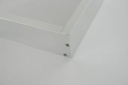 Materiale di alluminio incorniciato online-spedizione gratuita design super sottile Telaio a pannello LED montato in superficie Materiale in alluminio 300x1200X50mm Disponibile nei colori argento e bianco