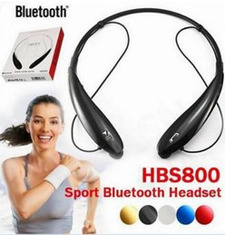 Wholesale Iphone 4s Earphone Bluetooth - HB-800S HBS-800 Wireless Bluetooth 4.0 Stereo Headset Earphone for Iphone 6 plus 5S 4S Samsung Note 4 3 s4 s5 HBS 800