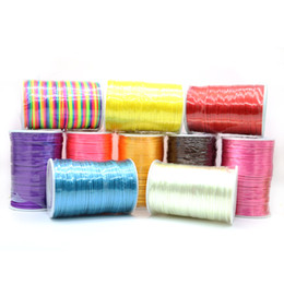 Wholesale Satin Rattail Cords - Wholesale Factory Price High Quality 2 mm Chinese Knotting Cord Satin Rattail Kerea Nylon Rope 100yard ZYL0005-5