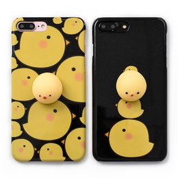Wholesale cell Phone Cases for iPhone s Plus Squishy Chicken phone covers Funny Release Pressure D toys Cute Cartoon Cover Bag Shell