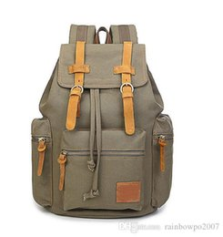 Wholesale Trade Backpack - Factory Direct Foreign Trade Canvas Bag Simple Washed Canvas Backpack Brand Men€s New Trend Of Products Of Large Capacity Computer Back