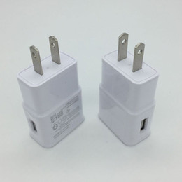 Wholesale Android Home Plug - 500PCS LOT USB Wall Charger 5V 2A AC Travel Home Charger Adapter US EU Plug for universal smartphone android phone