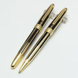 Argentina Alta calidad nueva Monte negro y oro rayas roller ball / bolígrafo de lujo mon pen regalo al por mayor envío gratis supplier pen stripe Suministro