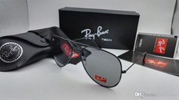 Wholesale Glasses Aviator Case - New Aviator Sunglasses Pilot Men Women RAY 62mm UV400 Vintage Mirror Band Polarized Bain Ben Glass Lenses BANS Sun Glasses with cases