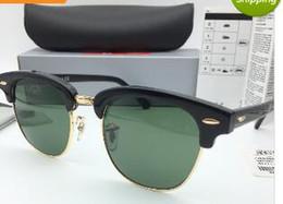 Wholesale High Quality Metal Hinge - Brand Designer Sunglasses High Quality Metal Hinge Sunglasses Men Glasses Women Sun glasses UV400 51mm Unisex With Box