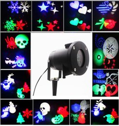 Wholesale Laser Lights Moving Heads - Christmas Garden Laser Projector Lamps LED landscape Light 12 slides head moving laser light for Christmas Halloween Party wedding birthday