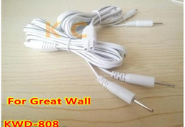 Wholesale I Devices - 10pcs Replacement 2-Pin Electrode Lead Wires Connector Cables for Great Wall Tens Acupuncture Multi-Purpose Health Device Kwd 808 I