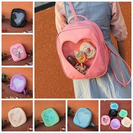 Wholesale Teenager Candy Color Backpack Cute Transparent Love Heart Shape Solid Color Zipper Backpack For Teenager Best Gifts style YYA177