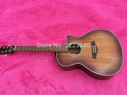 Wholesale Guitarra Custom Shop - Wholesale- Top Quality Cutaway K24ce KOA classic acoustic guitar,2016 New arrival Factory Custom shop Best guitarra,Free shipping