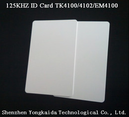 Wholesale 125 Khz Id - Wholesale- 10000pcs lot 125 kHz RFID Blank id card TK4100 4102 EM4100 id card