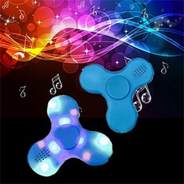 Wholesale Music Cube Toy - Hot! Fidget Led Bluetooth Music Fidget Cube Spinner Finger HandSpinner EDC Hand Tri Spinner HandSpinner EDC Plastic Toy For Decompression