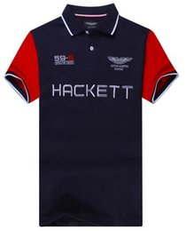 Wholesale Boy London Men - Top Quality Hackett Sport London Brand Men Casual Polo Shirt Short sleeve Man Polo Shirts Boys Tops HKT Tees Cotton Polos Size M-XXL