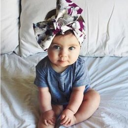 Wholesale Cute Headbands Handmade - INS Baby girls Headdress Toddler kids fruits printed headwear children Bowknot Handmade princess headband cute kids headwears G1452