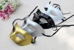 Wholesale White Plastic Half Mask Wholesale - 50PCS Venetian mask masquerade party supplies plastic half-face mask supplies