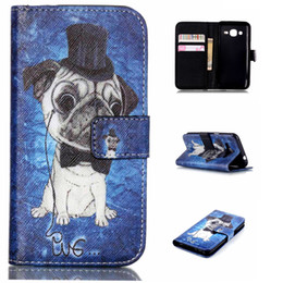 Wholesale Ace Flip Case - Cute Pet Pug Dog Pattern Pu Leather Flip Stand Wallet Card Slots Pouch Shell Cover Case For Samsung Galaxy J1 ACE J110 J110H