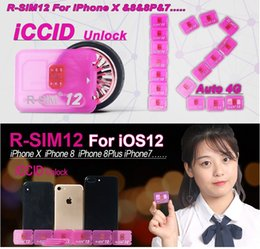 Wholesale Au Unlock - Rsim 12 r sim 12 RSIM12 black gold chip unlock card for iphone x 8 7 plus and i6 unlocked iOS 11 ios 11.x-7.x 4G CDMA GSM WCDMA SB AU SPRINT