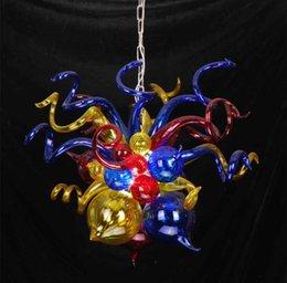 Стеклянные пузырьковые светильники онлайн-Воздушная доставка 100% ручной выдувного боросиликатного стекла Дейл Chihuly Murano Art Glass Bubble Подвесные светильники