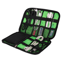 Wholesale Refrigerator Covers - New Arrive Data Cable Practical Earphone Wire Storage Bag Power Line Organizer electric bag Flash Disk Case Digital Accessories Bags