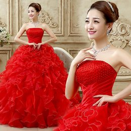 Wholesale Cheap Two Piece Quinceanera Dresses - Ball Gown Quinceanera Dresses Cheap Beaded Strapless Sweetheart Organza Ruffle Pink Purple White Ball Gown Quinceanera Dress Sweet