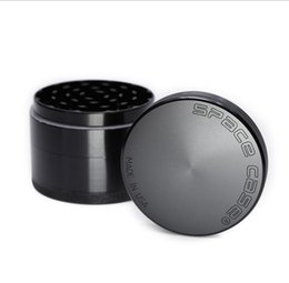 Wholesale Space Case Wholesale - Space Case Grinders 63mm Herb Grinder 4 Piece Tobacco Grinders With Triangle Scraper Aluminium Alloy Material Herb Spice Crusher