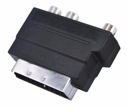 convertisseur vidéo hdmi composite s Promotion HOT Electronics Vidéo Scart RGB en Composite 3 RCA S-Vidéo AV TV Convertisseur Adaptateur Audio Scart vers RCA