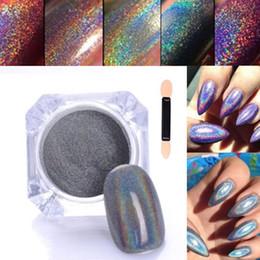 Wholesale Uv Pigments - Factory price laser silver Shinning Nail Glitter opi uv Nail Art Powder Chrome Pigment Glitters Dust Decorations nail tools