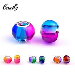 Wholesale Charm Bracelet Beads Bulk - Colourful Rainbow Beads for Charms Jewelry Making Loose Lampwork European Beads Charms DIY Beads for Bracelet Wholesale in Bulk Low Price