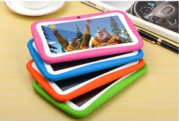 Wholesale Learning Tablets Spanish - 7 inch children's Tablet PC learning machine students Tablet PC education Tablet PC Android 4.4 quad-core 512MB 8GB 1024x600 Bluetooth