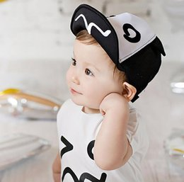 Wholesale Red Mesh Baby Hats - New Summer Baby Hat for Kids Boy Baseball Cap Eyes Style Infant Children Mesh Hats Adjustable