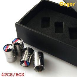 Wholesale car valve box - Car Wheel Tire Valves Tyre Stem Air Caps Cover for bmw bmw x5 e92 e87 e46 Car Emblems Accessories Car Styling (gift box)