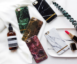 Wholesale Polish Marble - 2017 for iPhone 8 for iPhone X original real irregular crack shape polished marble IMD gloss TPU phone case for iphone 6 6 Plus 7 7 plus