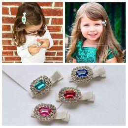 Wholesale Hair Accessories Jewels - Fashion jewel diamond Girls Hair Clip cute pretty Toddler Bows baby Hair Bows Hairclips Children Hair Accessories Kids Barrettes A550