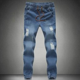 Wholesale men s big feet - Wholesale-Casual Free shipping 2016 Hot casual burst models Slim minimalist boutique bundle foot cowboy pants big yards CSY0567