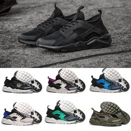 Wholesale B Lights Design - 2017 New Design Air Huarache 4 IV Running Shoes For Women & Men, Lightweight Huaraches Sneakers Athletic Sport Outdoor Huarache Shoes 36-46