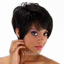 Wholesale Black Pixie Wig - Short pixie Brazilian Hair Full Lace 100% Human Hair Wig With Baby Hair Glueless Straight Lace Front Wigs for Black Women