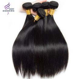 Wholesale Straight Brazilian Hair One Bundle - Modern Show Hair Brazilian Straight Human Hair Bundles Natural Black Color 1B Can be Dyed One Bundle Brazilian Virgin Hair Weave Extensions