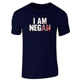 Wholesale Printer Shirts - Performance T Shirt By Design I Am Negan Short Sleeve T-Shirt Basic Logo T Shirt Printers