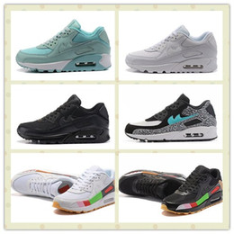 Wholesale Shark Rubber - Hot Sale Air Shark Camo Deluxe 90 Sports Shoes Men Women Leopard Retro Running Shoes Trainer Sneakers With Box Size US5.5--11