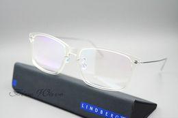 Wholesale Mirror Light Design - Hot Sale-Brand Design Lindberg 6505 glasses frame flat of mirror man spectacle frame Btitanium men eyewear frame glue ultra light eyeglasses