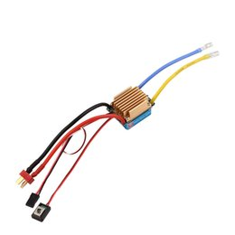Wholesale Esc Brush Rc - Waterproof Brushed ESC 320A 3S with 5V 3A BEC T-Plug For 1 10 RC Car Free Shipping