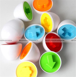 Wholesale Egg Matching Toy - Wholesale- 6pcs Mixed Shape Pretend Smart Eggs Baby Kid Toys Matching Toys Eggs Toys 70517044 KTK