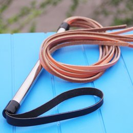 Wholesale Pet Tie Outs - Genuine Leather Training Dog Whip Dog Pet Training Supplies Practial Whip Agility Training Whip Trainer