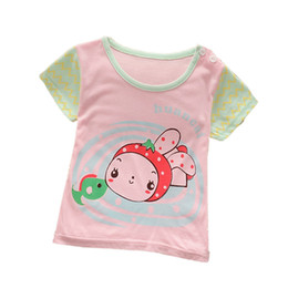 Wholesale T Shirts For Boys Wears - Pretty Boys and Girls Cartoon T-shirt Cute Style Print Unisex Lovely Casual Tees Short-Sleeve For Children Summer Wear Clothes