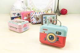 Wholesale Small Party Favor Boxes - 75*35*55mm Small Tin Vintage Party Rectangle Handbag Suitcase Luggage Shaped Candy Box Wedding Favor Boxes wa4126