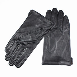 Wholesale High Fashion Leather Gloves - Wholesale- 2017 Eldiven Leather Gloves Men's High-grade Quality Imported Sheepskin Without Lining Straight Style Car Spring And Autumn