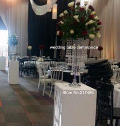 Lustres de mesa on-line-decoração de mesa de casamento, atacado Crystal Table Top Chandelier