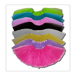 Wholesale Girl Matching Costumes - 2017 New Best Match Tutu Ballet Skirt Baby Girls Childrens Kids Dancing Tulle Tutu Skirts Pettiskirt Dancewear Ballet Dress Skirts Costume