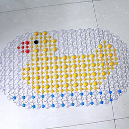 Wholesale Mat Duck - Wholesale-New Arrival Cartoon Anti-Slip PVC Bath Mat With Suction Cups Seaworld Duck Fish Carpet Used For Bathroom Drop Shipping